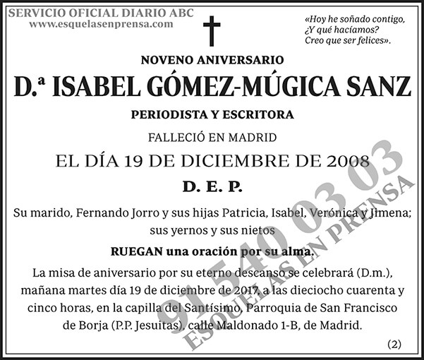 Isabel Gómez-Múgica Sanz